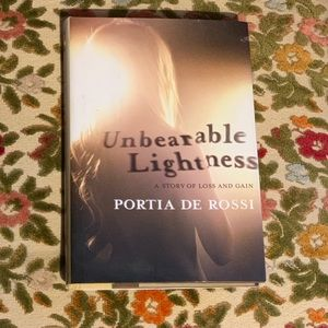 "Book ""Unbearable Lightness"" by Portia De Rossi"